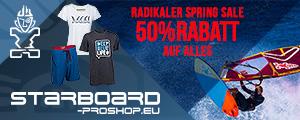50% Spring Sale im Starboard Proshop